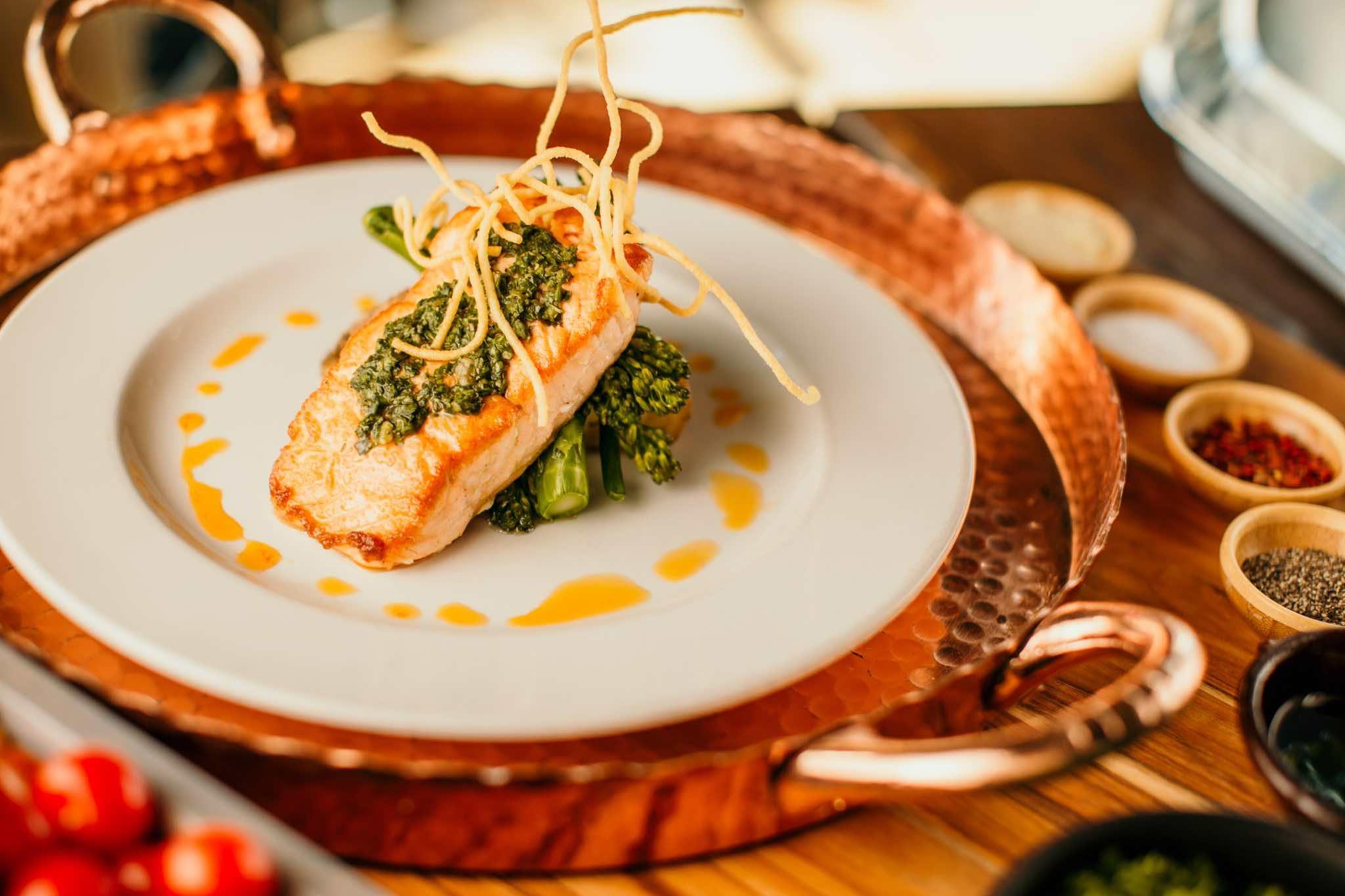 Oakville restaurants Ritorno salmon seafood dish